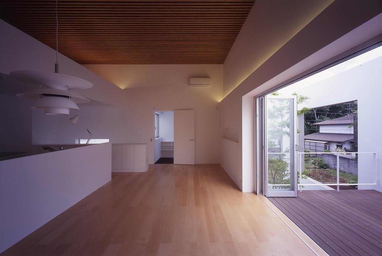リビングダイニング事例:2階LDKスペース(市川の住宅)