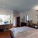 古民家移築のゲストルームを住宅に/歴梁の写真 寝室
