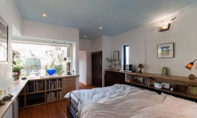 寝室|古民家移築のゲストルームを住宅に/歴梁