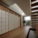 分節と連続の家の写真 玄関・LDK・和室