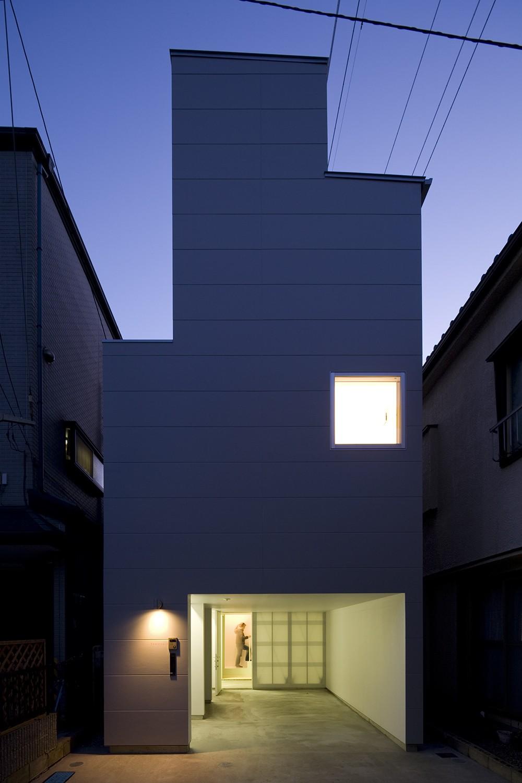 南加瀬の住宅 (外観(夜景))