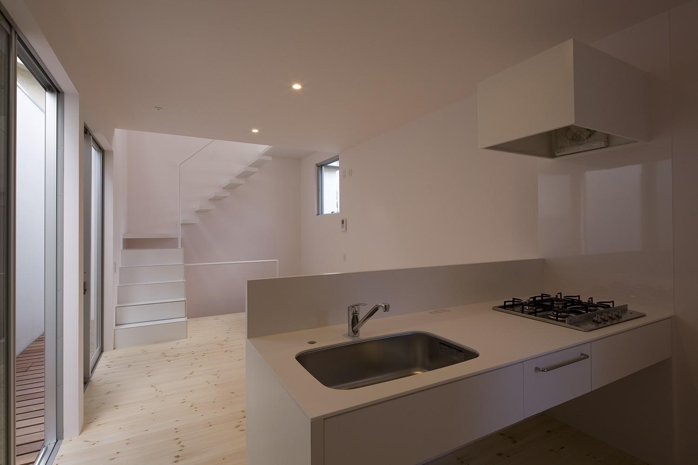 キッチン事例:LDKスペース(南加瀬の住宅)