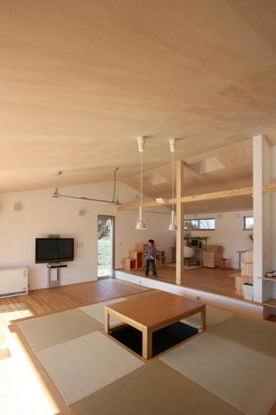 子供スペース (トウモロコシ畑の家)