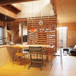 両親が建てた家をリノベして住み継ぐ|Sumire house (ダイニングスペース)