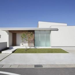 小瀬の家 平屋のコートハウス (外観)