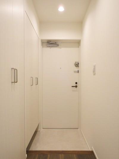 玄関 (深みのあるウォールナットの部屋)