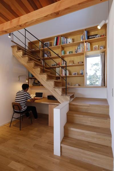 デスクコーナー (緑あふれる癒しの家~アンティークやグリーンが映えるカフェのような家~)