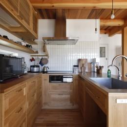 緑あふれる癒しの家~アンティークやグリーンが映えるカフェのような家~ (キッチン)