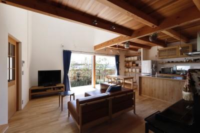 LDK (緑あふれる癒しの家~アンティークやグリーンが映えるカフェのような家~)