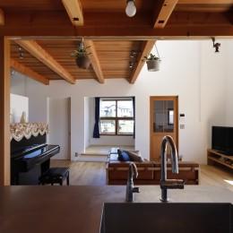 緑あふれる癒しの家~アンティークやグリーンが映えるカフェのような家~ (リビングダイニング)