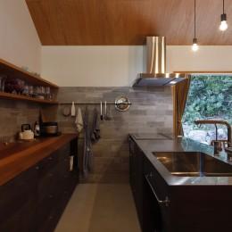 庭とつながる家~自然を身近に感じる家~ (キッチン)