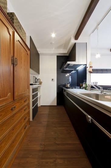 Sunny warm styleの部屋 対面キッチン