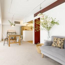 S邸-壁に色を塗りたい!夢とこだわりの詰まった寝室 (リビング)