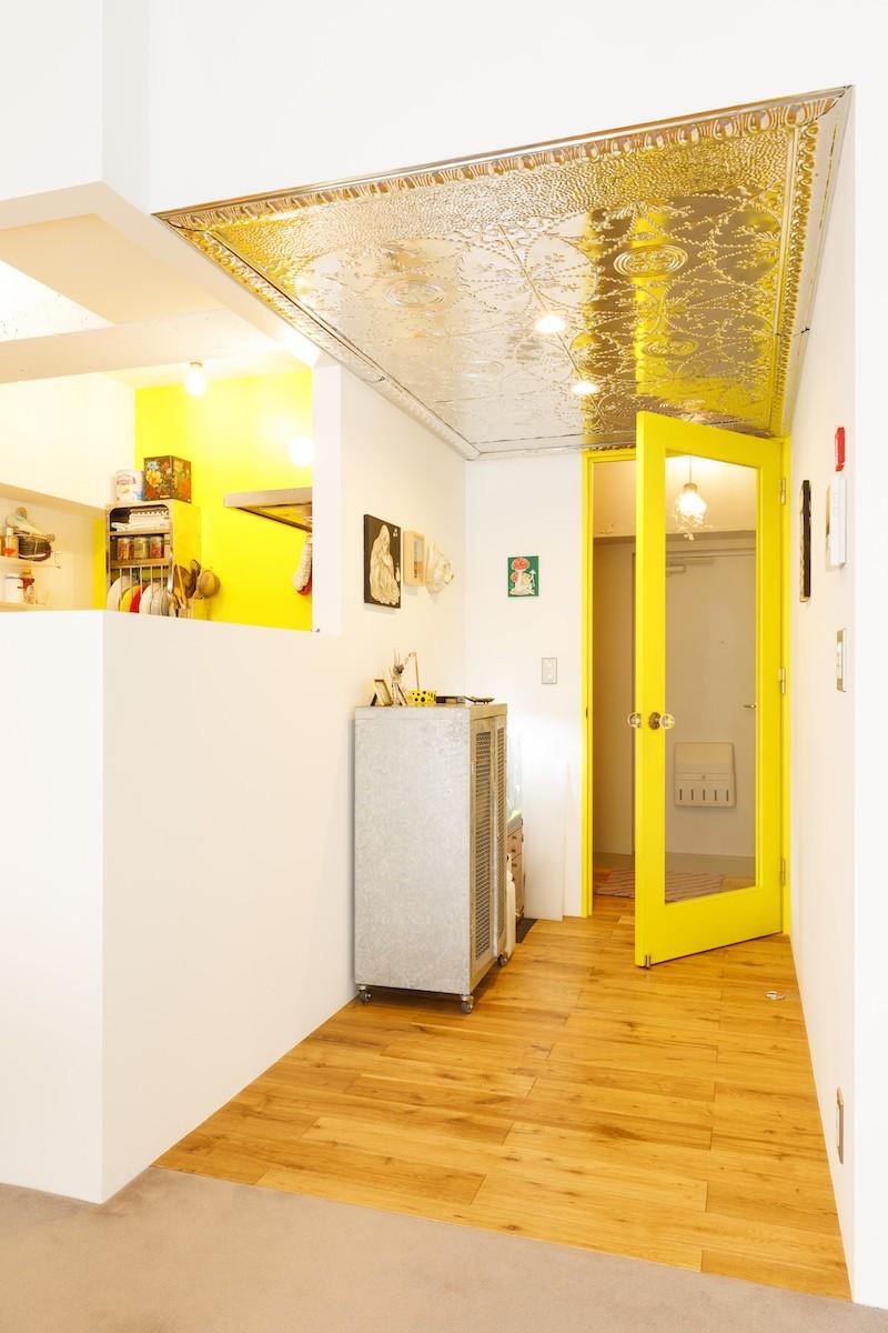 S邸-壁に色を塗りたい!夢とこだわりの詰まった寝室 (キッチン)