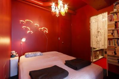 寝室 (S邸-壁に色を塗りたい!夢とこだわりの詰まった寝室)