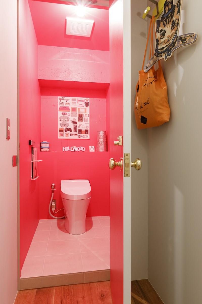 S邸-壁に色を塗りたい!夢とこだわりの詰まった寝室 (トイレ)