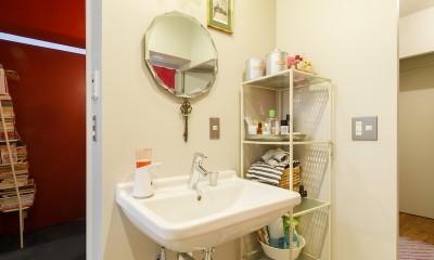 S邸-壁に色を塗りたい!夢とこだわりの詰まった寝室 (洗面所)