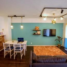 憧れのカフェ&ヴィンテージデザインで統一したマイホーム (LDK)