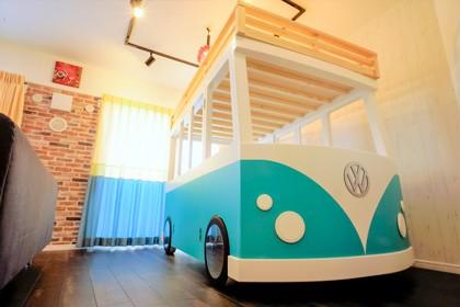 憧れのカフェ&ヴィンテージデザインで統一したマイホーム (ワーゲンバス)