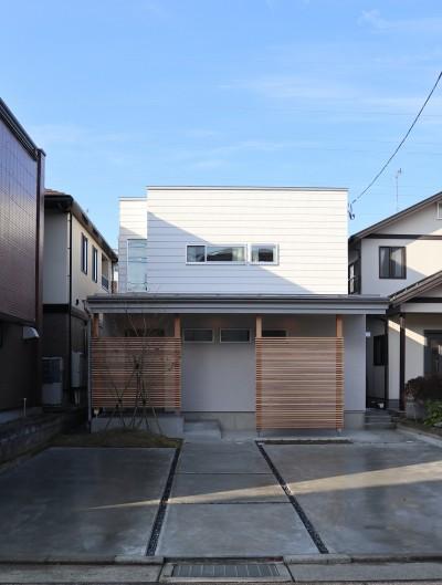 斜光の家 (外観ファサード)