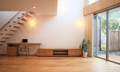 リビング|斜光の家