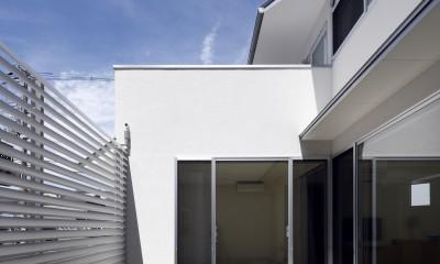 中庭|ダイヤモンドカットの家 – 働く覚悟と白いダイヤモンド –