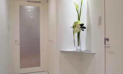 廊下|岡崎のマンション – 斜めに切り取られた和室が空間の可能性を広げる –