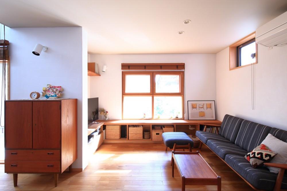 家族の時間を楽しむ家~北欧インテリアの家~ (リビング)