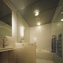 光庭の家 – 敷地条件を諦めない改修<リノベーション> – (1階洗面・バスルーム)