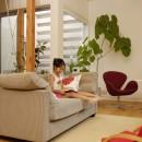 光庭の家 – 敷地条件を諦めない改修<リノベーション> –の写真 リビング