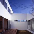 日立の2世帯住宅の写真 中庭