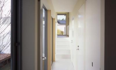 日立の2世帯住宅 (1階廊下)