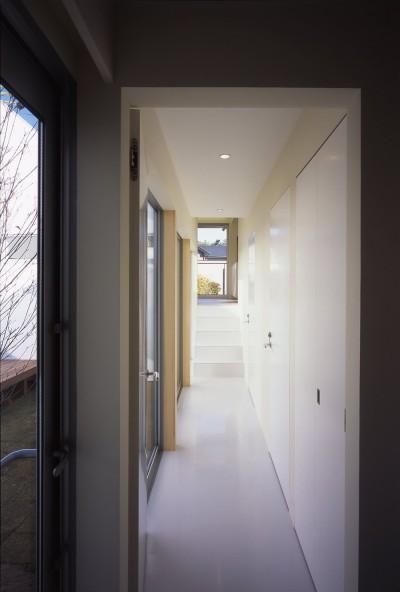 1階廊下 (日立の2世帯住宅)
