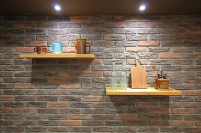 キッチンの壁 (ModernLuxuryな空間を、街中で。)