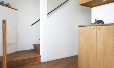 阿倍野の長屋  – 「5段の距離がいい」<リノベーション> – (玄関)