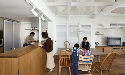阿倍野の長屋  – 「5段の距離がいい」<リノベーション> – (キッチン)