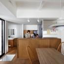 阿倍野の長屋  – 「5段の距離がいい」<リノベーション> –の写真 キッチンと洗面所