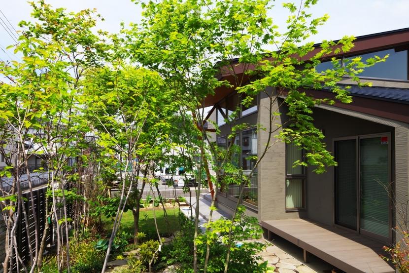 古河の家の部屋 外観(雑木林)