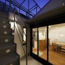 阿倍野の長屋  – 「5段の距離がいい」<リノベーション> –の写真 テラス 中庭
