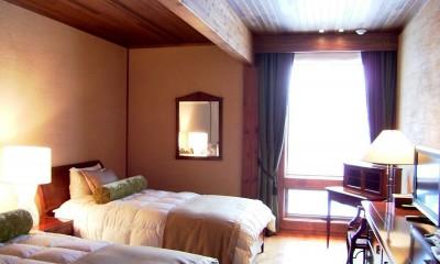 水上高原のヴィラ (ndesignと協同設計) (ゲストベッドルーム)
