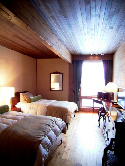 ゲストベッドルーム (水上高原のヴィラ (ndesignと協同設計))