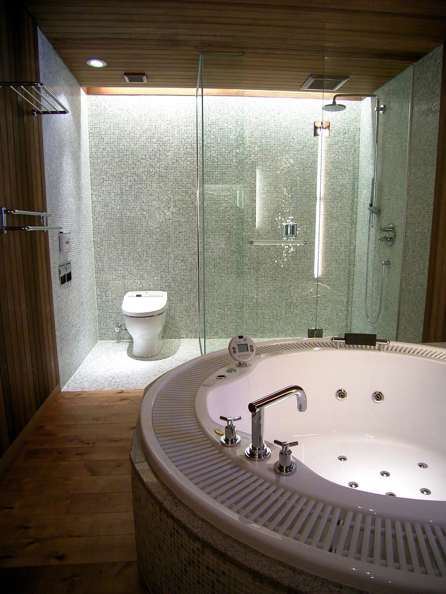 バス/トイレ事例:バスルーム(水上高原のヴィラ (ndesignと協同設計))