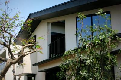 建物外観 (杉並の住宅 大きな切妻屋根の家)