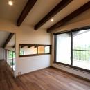 杉並の住宅 大きな切妻屋根の家の写真 2階寝室
