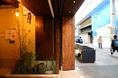 ファサード右側 (GUEST HOUSE とろとろ 空堀商店街)