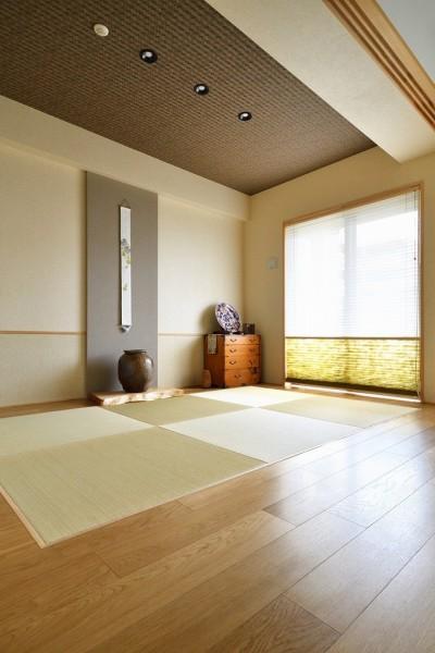 和室 (お気に入りの家具との暮らし。活かすのは職人技の造作)