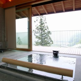 雷山の別荘 絶景を楽しめる和モダンの別荘 (温泉浴室)