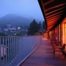 雷山の別荘 絶景を楽しめる和モダンの別荘の写真 パノラミックなデッキスペース