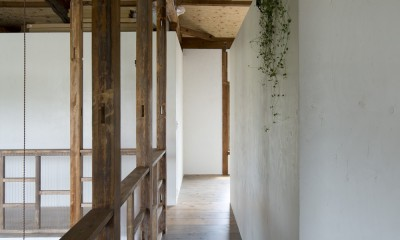 Renovation in Nekogahora / 天井と壁を取り払い構造補強により豊かさを得た住宅兼店舗 (2階)