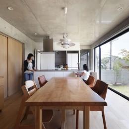 LDK (高台の家 –コンクリート打ち放し –)
